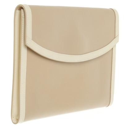 Hermès clutch in beige