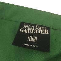 Jean Paul Gaultier Grüner Leinenrock