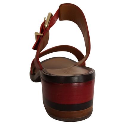 Fendi cowhide leather sandal