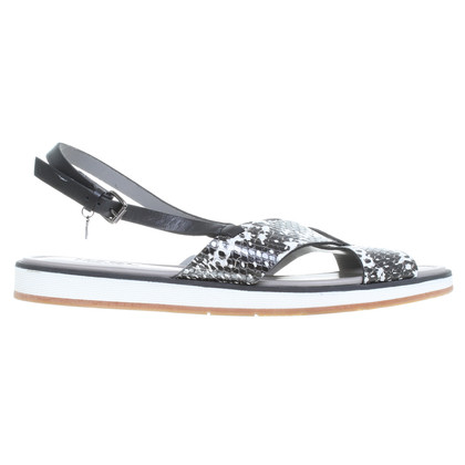 Karl Lagerfeld Sandals in reptile finish
