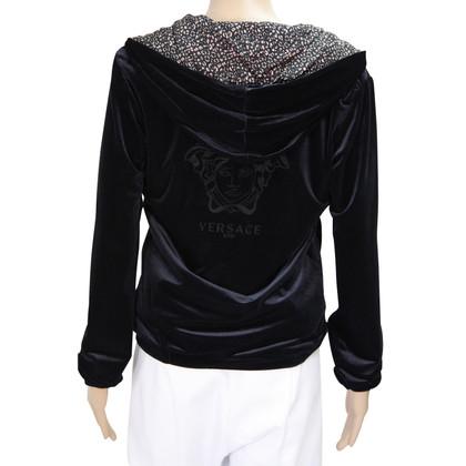 Versace Felpa con cappuccio in Black