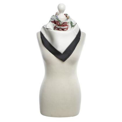 Hermès Seidentuch mit Motiv-Print