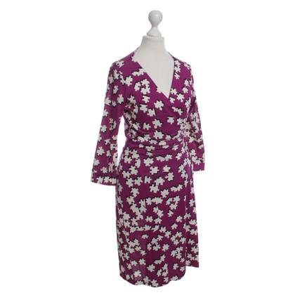 Diane von Furstenberg Silk dress in Fuchsia