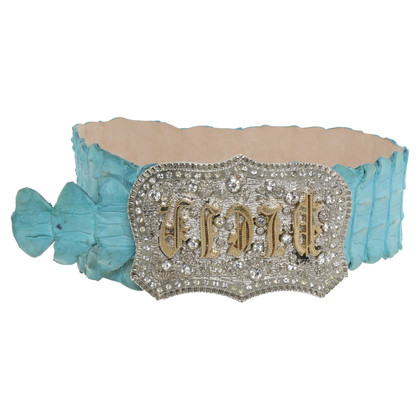 Philipp Plein Belt made of crocodile leather