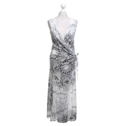 Roberto Cavalli Wrap dress in black / white