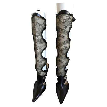 René Caovilla Boots with lace shank