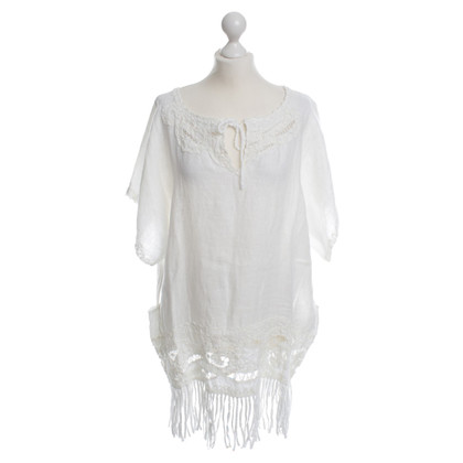 Anjuna linen top white