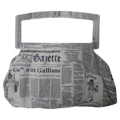 John Galliano Handtasche mit Schriftzug