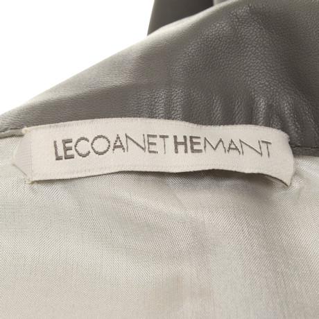 Andere Marke Lecoanet Hemant - Lederrock in Grau Grau Professionelle Verkauf Online hNXBFiw8X