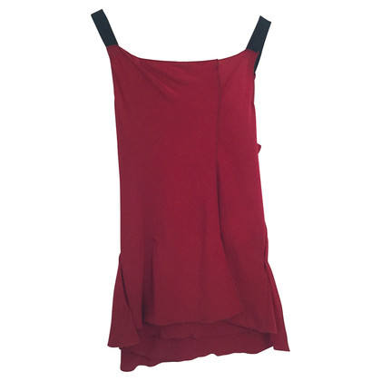 Miu Miu peplum red silk top