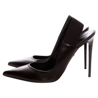Philippe Model slingback in pelle nera pumps