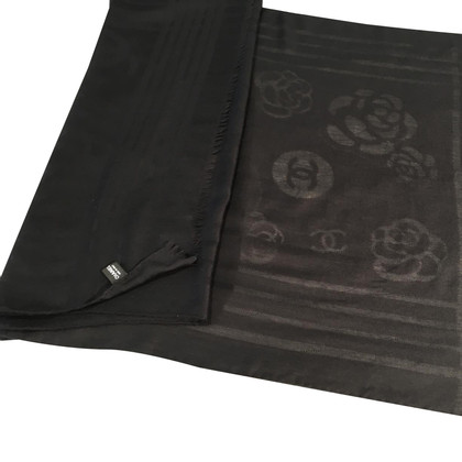 Chanel Black transparent scarf