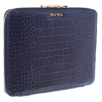 Miu Miu ipad Case in blauw