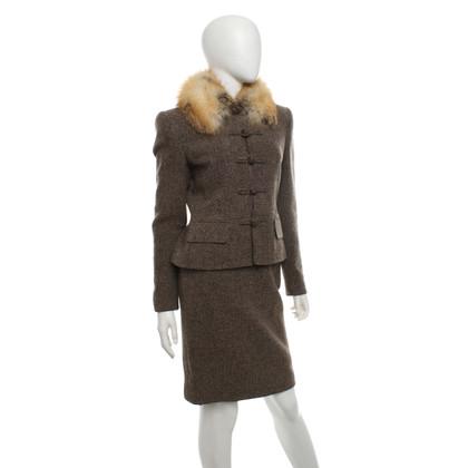 Rena Lange Costume con dettagli in pelliccia