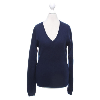 Allude Cashmere sweater in dark blue