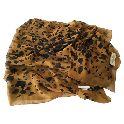 Burberry silk scarf with Animal Print