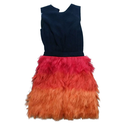 Victoria Beckham Silk dress with feathers