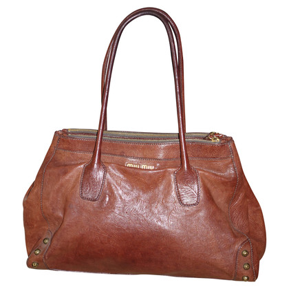 Miu Miu Leather handbag in Brown
