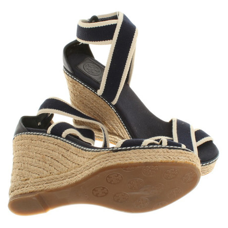 Blau Tory Burch Wedges Burch in Blau Tory Blau Wedges in qwzqH
