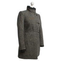 Fay Lined coat in black / white