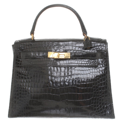 "Hermès ""Kelly Bag 28 pelle di coccodrillo"""