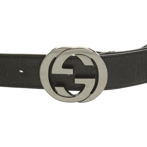 nuovo stile 19ea3 e9c1e Gucci Cintura in Pelle in Nero - Second hand Gucci Cintura ...