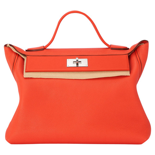 d5519b36f33e3 Hermès Handtasche aus Leder in Orange - Second Hand Hermès ...