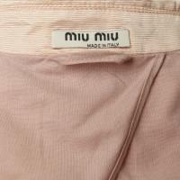 Miu Miu Giacca in morbido Rosé