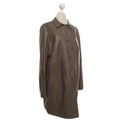 Marni Leather coat in beige