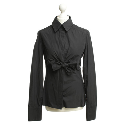 Gucci Cotton blouse with anthracite
