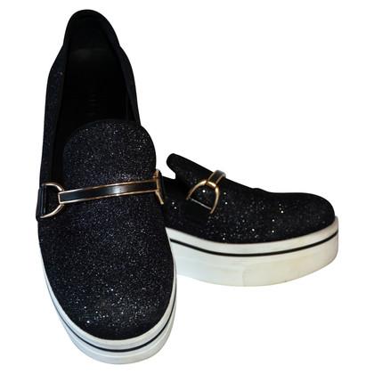 Stella McCartney Sneaker nero glitter binx
