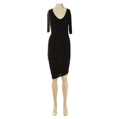 T by Alexander Wang Asymmetrisches Kleid in Schwarz