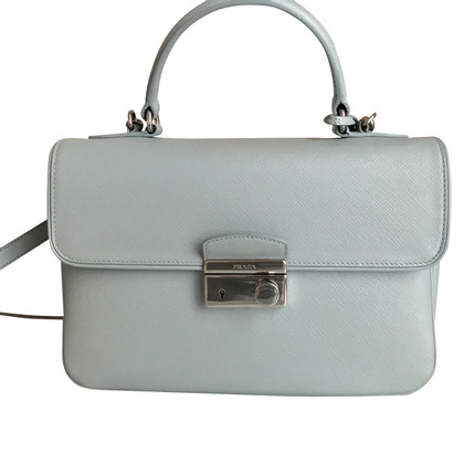 Prada light blue leather handbag