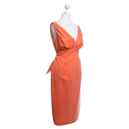 Talbot Runhof Orangefarbenes Kleid