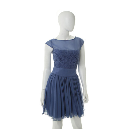 Reiss Blue dress with lace trim