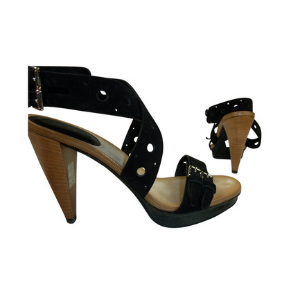 Tod's Black sandals with high heels