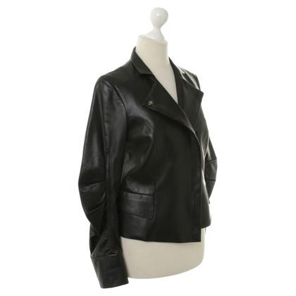 Paule Ka Leather jacket in black