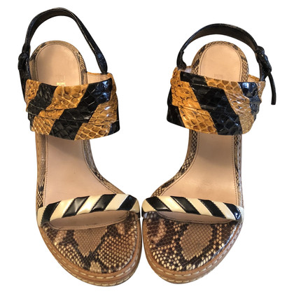 Prada Sandalen aus Reptil-Leder