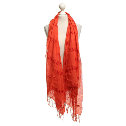 Armani Jeans Scarf in linen blend