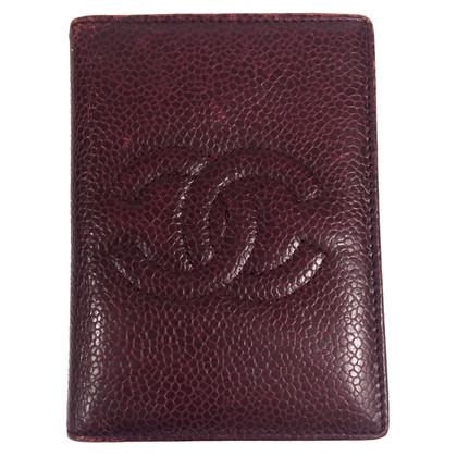 Chanel cassa di carta di credito in pelle caviale
