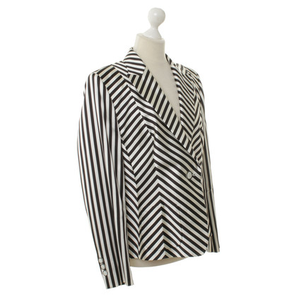 Basler Striped Blazer in black and white