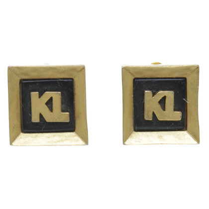 Karl Lagerfeld Earrings in black and gold