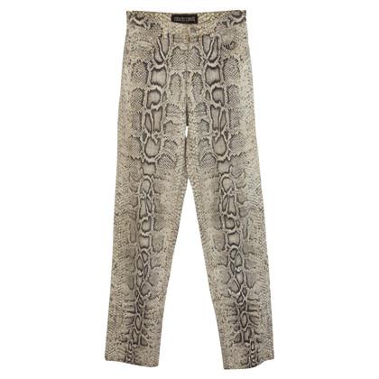 Roberto Cavalli Roberto Cavalli white brown cotton pants