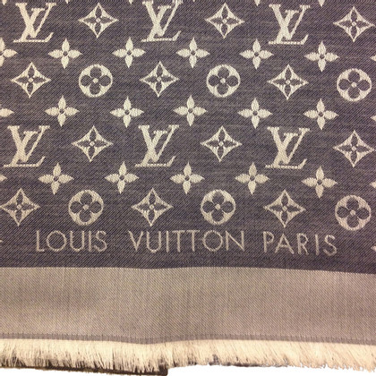 Louis Vuitton Monogram Denim Tissu en bleu