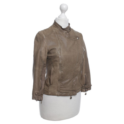 Patrizia Pepe Leather jacket in used look