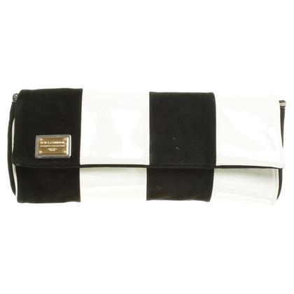 Dolce & Gabbana Clutch in Schwarz-weiß