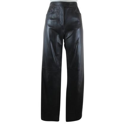 Armani Collezioni Lederen broek