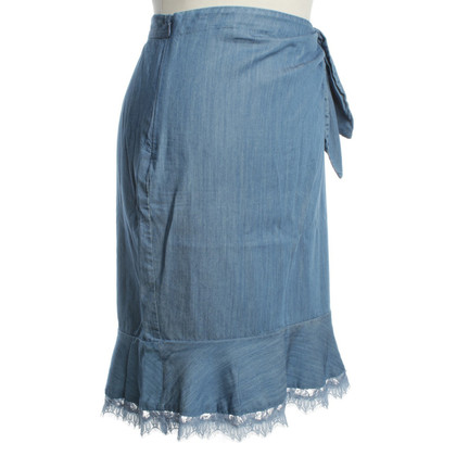 Diane von Furstenberg Blue skirt with lace
