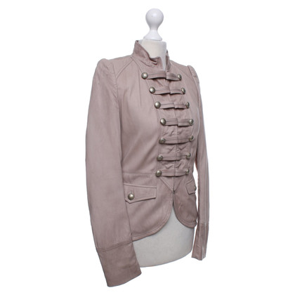 Hugo Boss Lederjacke in Taupe