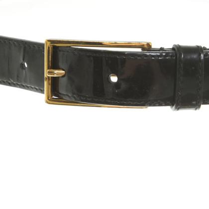 Prada riem patent leather